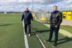 """""""Gintros"""" futbolininkės atnaujino treniruotes"""