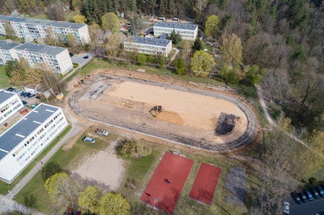Vilniuje atnaujinami sporto aikštynai.