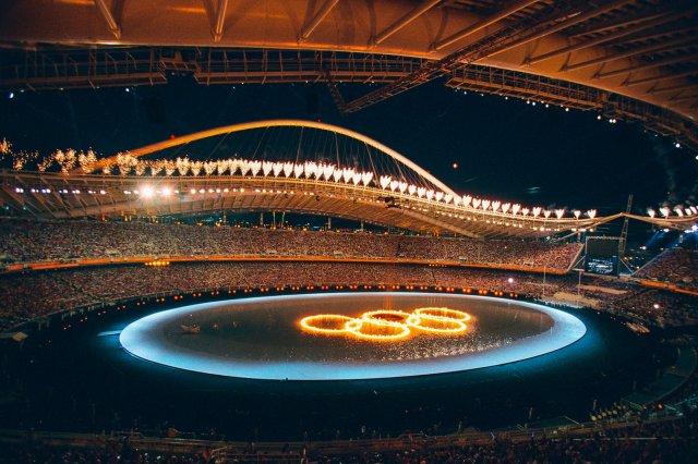 2004 08 13. RETRO.Olimpinių žaidynių Atėnuose atidarymo ceremonija.