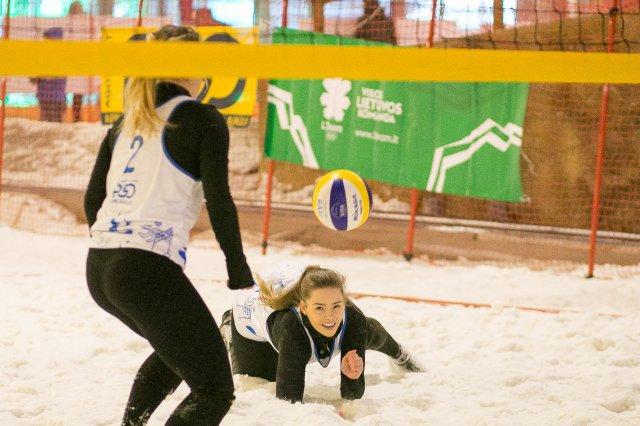 Atvirasis Lietuvos sniego tinklinio čempionatas Druskininkuose.
