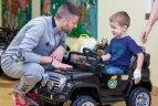 LFF vadovai ir futbolo rinktinės žaidėjais lankėsi Santaros klinikų Vaikų ligoninėje.
