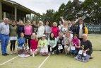 Dubingiuose moterys rungėsi padelio ir teniso turnyruose