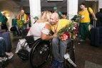 Lietuvos neįgaliųjų lengvosios atletikos rinktinės sutikimas