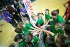 """Lietuvos krepšinio federacijos (LKF) projektas mergaitėms """"Nike Vikruolių taurė""""."""