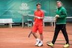 Geriausias Lietuvos tenisininkas R. Berankis Vilniuje.