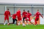"""""""Sūduvos"""" ir """"Maccabi"""" treniruotės prieš Europos lygos mačą Marijamolėje."""