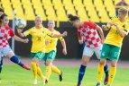2019 08 29. Europos moterų futbolo čempionato atranka. Lietuva – Kroatija 1:2.