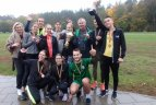Vilniaus gimnazistų žaidynių lengvosios atletikos kroso estafetės.