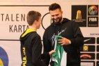 """Anykščiuose startavo šeštasis Lietuvos krepšinio federacijos projekto """"Talentų karta"""" sezonas."""