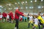 """""""Kauno Žalgirio"""" ir """"Sūduvos"""" futbolininkai bendravo su specialiųjų poreikių vaikais."""