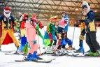 """Kalnų slidinėjimo klubo """"Snow Bees"""" kalėdinės varžybos """"Snow Arenoje""""."""