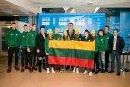 Lietuvos sportininkų palydėtuvės į trečiąsias jaunimo žiemos olimpines žaidynes Lozanoje.