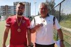 Vilniaus r. žolės riedulininkų treneris Vytautas Vilipas atšventė 60-metį.