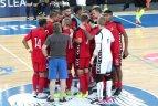"""Europos klubų salės futbolo Čempionų lygos F grupės atrankos turnyras. """"Vytis"""" - """"Murata"""" 4:1."""