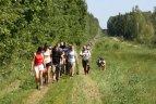 """Tradicinis pėsčiųjų žygis """"Pasieniečių keliais""""."""