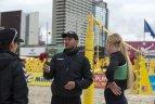 """Europos čempionato """"Satellite"""" serijos etapas. U.Andriukaitytė/I.Zobnina - I.Dumbauskaitė/M.Povilaitytė."""
