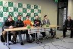 2010 04 01. Lietuvos vyrų teniso rinktinės spaudos konferencija.