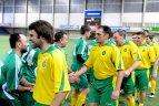 """2010.02.05. """"Sportimos"""" arenoje vyko futbolo rungtynės tarp Lietuvos žurnalistų ir Lietuvos medikų."""