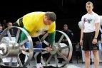 2010.02.21. Žydrūnas Savickas pagerino pasaulio Apolono ašies kėlimo rekordą