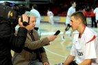 """2010.01.19. LKL rungtynės.  """"Lietuvos ryto"""" krepšininkai  nugalėjo Panevėžio """"Techaso""""  komandą."""