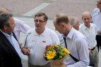 2011 07 20. Pasaulio veteranų  krepšinio čempionato dalyvių pagerbimas Vilniuje.