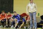 """2010.01.23. Lietuvos vyrų rankinio čempionate """"VHC Šviesa"""" 41:29 įveikė """"HC Utena"""" komandą"""
