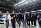 """2011.05.18. Europos čempionato dalyvių atstovai ir varžybų rengėjai """"Siemens"""" arenoje."""