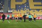 Lietuvos rinktinės treniruotė prieš UEFA Tautų lygos rungtynes su Rumunija.