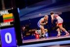 Europos žaidynių moterų imtynių kovos.