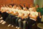 Lietuvos moterų krepšinio rinktinė palydėta į Europos čempionatą.
