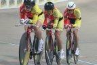 Lietuvos dviratininkės Europos čempionato komandų persekiojimo lenktynėse pelnė sidabro medalius!