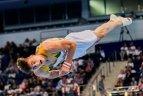 2019 06 28 Minskas, Europos žaidynės. Gimnastas R. Tvorogalas atrankoje žengia trečias.