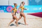 Europos žaidynės. Paplūdimio tinklinis. Moterų ketvirtfinalis. Lietuva - Čekija 2:0.