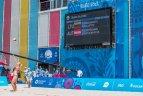 Europos žaidynės. Moterų paplūdimio tinklinio pusfinalis. Lietuva - Austrija 0:2.