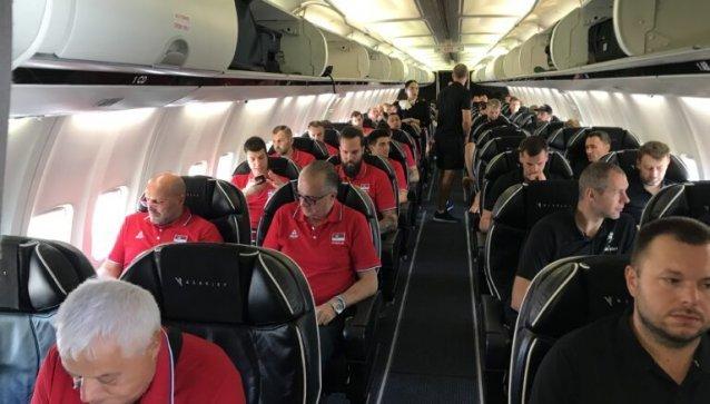 Lietuvos ir Serbijos rinktinės į Kauną iš Belgrado atskrido tuo pačiu lėktuvu.
