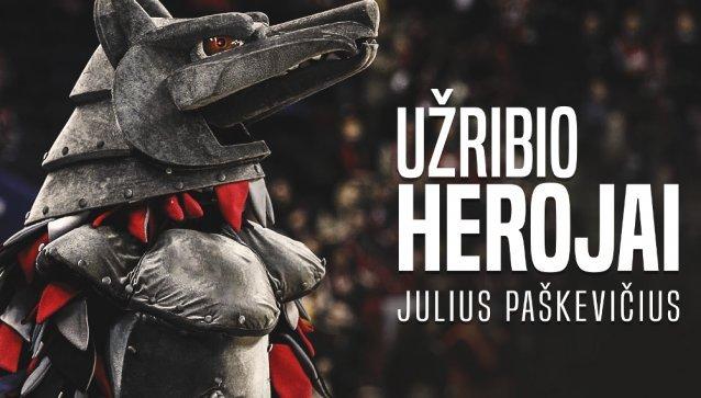 """""""Užribio herojai"""": Vilniaus """"Ryto"""" talismaną vilką įkūnyjantis aktorius Julius Paškevičius."""