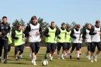 Prieš kelionę į Slovakiją Lietuvos futbolininkai treniravosi Austrijoje.