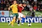 EURO 2012 atrankos rungtynių tarp Čekijos ir Lietuvos nacionalinių futbolo rinktinių akimirkos