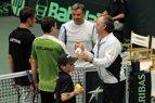 2010.07.11 Lietuvos teniso rinktinės kapitonas Remigijus Balžekas nebuvo patenkintas jaunųjų tenisininkų žaidimu
