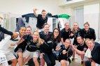 """Vilniaus """"Kibirkšties"""" moterų krepšinio komanda prisijungė prie visame pasaulyje populiarėjančio """"MannequinChallenge""""."""