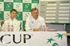 2010.09.16 Lietuvos teniso rinktinė Daviso taurės mače su slovėnais tikisi teigiamo rezultato