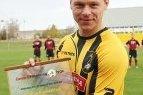 A lygos rezultatyviausių puolėjų lyderiui Artūrui Rimkevičiui įteiktas geriausio rugsėjo žaidėjo prizas