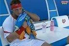 """""""Australia Open"""" antro rato vyrų vienetų dvikovos tarp Ričardo Berankio ir Davido Nalbandiano pabaiga"""