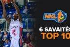 NKL šeštosios savaitės Top 10