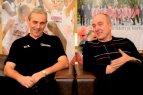 Legendiniai treneriai G. Žibūda ir S. Žaliabarštis apie Marijampolės krepšinio ištakas, įdomiausius nutikimus ir skambiausias pergales